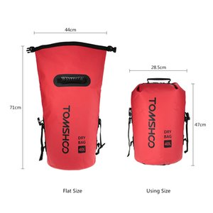 TOMSHOO 40L Outdoor Water-Resistant Dry Bag Sack Storage Bag for Travelling Rafting Boating Kayaking Camping Snowboarding