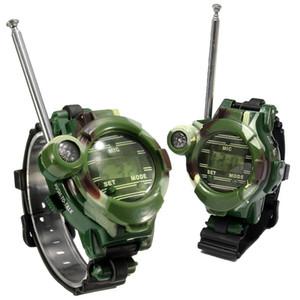 2 Pcs per Set Toy Walkie Talkies Watches LCD Radio 150M Watched Walkie Talkie 7-in-1 Children Watch Radio Outdoor Interphone Toy