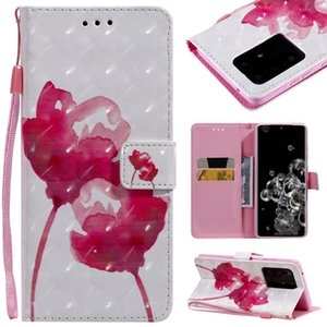 For Galaxy S20 Ultra 3D Painting Horizontal Flip Leather Case with Holder & Card Slot & Lanyard