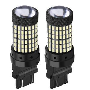 2 piezas de T25 3157 3156 P27 / 7W P27W super brillante 1600LM LED del coche de los bulbos de automóviles de freno señales de vuelta de la lámpara luces de circulación diurna Rojo Amarillo