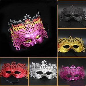 LED fibre masque vénitien femmes Illuminez Masques Masquerade Costume Party Princesse plume Masques Glowing Masque de mascarade LXL833-1