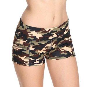 Séance d'entraînement Gym Shorts femmes bodybuilder 2020 Camouflage Imprimer Sports Athlétiques transparente Fitness shorts de course