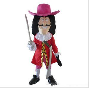 Capitaine Crochet Costumes De Mascotte Animé thème skipper Cospaly Cartoon mascotte Caractère Halloween Carnaval fête Costume