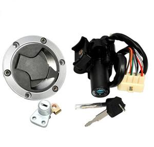 Motorrad Zündschalter Öl Kraftstoff Gas Tankdeckel Abdeckung Lock Key für Ninja 250 300 Moto Zubehör KKA6725