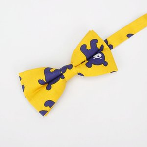 Men's Cartoon Cotton Vintage Animal Bear Print Bow Tie Butterfly For Man Cute Bowtie Tuxedo Wedding Bows Groom Party Gravatas