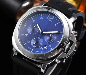 Luxo Mens Relógios militar Quartz Relógios de pulso Todos os subdials de trabalho suíço marca esportiva assistir relogies moda para homens Montre de luxe