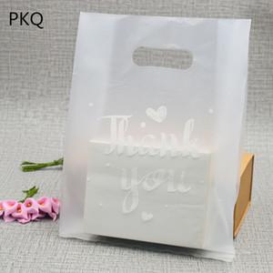 50 adet Saydam Eğer Saplı torba Plastik Alışveriş Çantaları Ambalaj Plastik Hediye Çanta Favor Takı Butik Hediye yazdır teşekkür