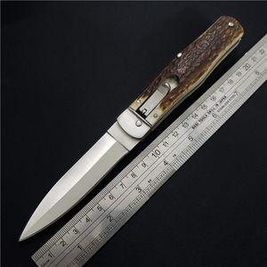 Лучшее Качество Горизонтальные Тактические Складные Ножи Одностороннего Действия D2 Лезвие Рога Ручка Тактический Нож выживания ручной работы EDC Инструменты BM42