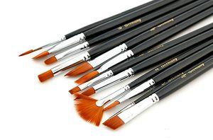 Wholesale Paint Brushes - 12 قطعة / المجموعة المائية الغواش أكريليك الفن حرفة الفنان النفط الطلاء رسم الطلاء فرشاة الفن اللوازم