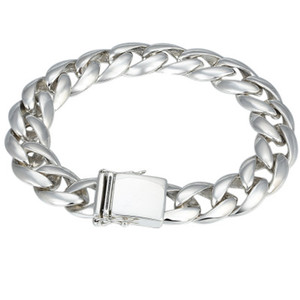 925 Sterling Silver Men Survival Name friendship Bracelet Bangle Jewelry Smooth 13mm Width Bracelet