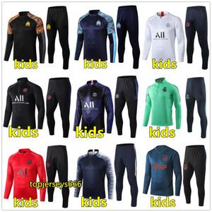 Yeni çocuk Paris eşofman 2018-2019 psg futbol jogging ceket MBAPPE NEYMAR JR POGBA 18/19 Paris çocuk Futbol Eğitimi suit