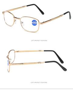 Unisexe pliable Lunettes de lecture avec étui progressif lentille multifocale Lunettes anti-bleu clair presbyte Lunettes + 1,00 ~ + 4,00