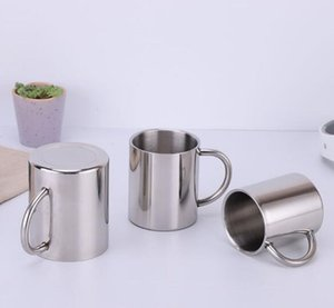 free shipping Stainless steel Tumbler Cups Handgrip 2 layer Vacuum Insulated Keep Warm Sports Champagne Bear Coffee Mugs Water Cups