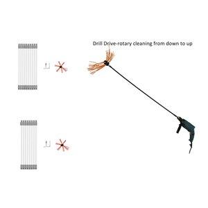 Unidade Broca 1Set Chaminé Brush-Electrical Varrendo ferramenta de limpeza Kits com nylon reforçado flexível Rods # 40