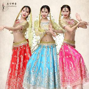 Odin Narelle Belly Dance India Sari Abbigliamento Donna Bollywood Dance Performance Vieni Servire Suit