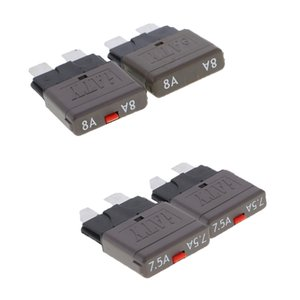 4Pcs 28V 8A+7.5A Auto Car Truck Boat Mini Blade Fuses Manual Circuit Breaker