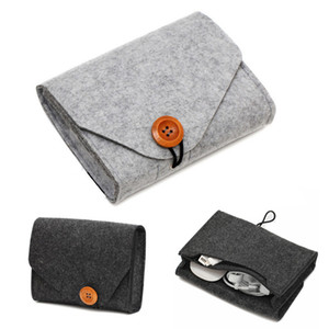 Войлок ноутбук Источник питания Источник питания сумка для хранения гарнитуры Кабель данных зарядный Treasure Хранение Войлок сумка Travel Organizer