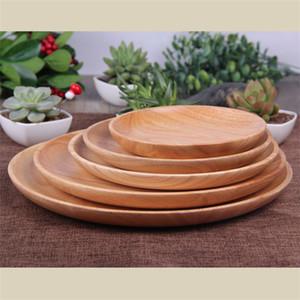 Snack Dish Caucho Madera Circular Creativo Nuevo estilo Fruit Plate Solid Woodiness Snacks Bandeja Venta directa de fábrica 18 7ln4 p1