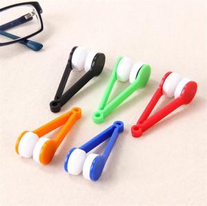 새로운 안경기 다기능 휴대용 유리를 닦아 마이크로 화이버 브러시 선글라스 유리 청소 닦음 뜨거운 판매