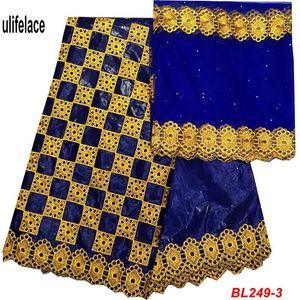 Bazin Riche Getzner Tecido De Renda Bordado Correspondência de tecido de Malha de Renda Francesa África Algodão Guiné Brocade Tecidos 5 + 2 jardas / conjuntos BL-249