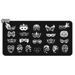 1 Pcs Pregos Carimbar Placa 24 Projetos de Várias Máscaras Nail Art Template Reutilizável Stamping Template Prego Ferramentas Acessórios Tiaxin08 #