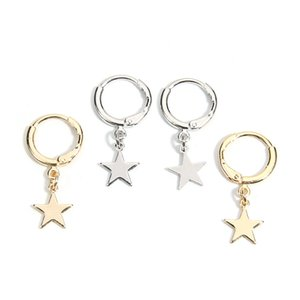 New Five pointed Star Studs Melhor Venda Simples Populares Estrelas de Ouro Brincos Para Mulheres Brincos Moda Jóias Acessórios Femininos