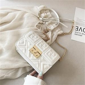 Мода сумка Стильная сумка плеча Креста тела цепи вышивки линия Малый квадрат сумка Горячий PH-CFY20051835