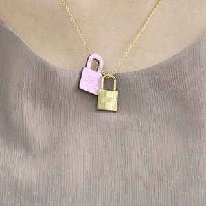 New hot sale lock pendant personality necklace jewelry classic element high quality fashion necklace