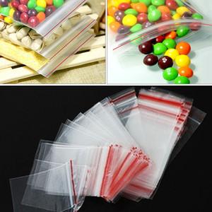 4 * 6cm PE transparent Schmuck ziplock wiederverschließbaren Kunststoff Polybags Lebensmittel Aufbewahrungsbeutel Tropfen-Verschiffen