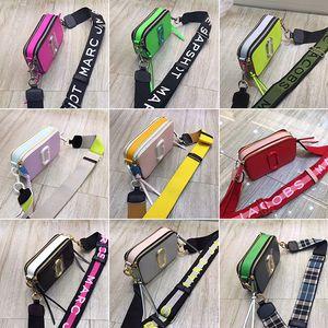 Alta qualidade bolsa nova câmera de cor feitiço MJ Ma Ying-jeou ampla ombro alça de ombro diagonal fêmeas de couro saco senhoras pacote pequeno quadrado