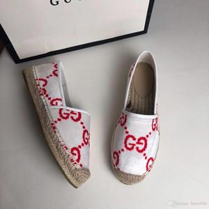 Promosyon Kadın Espadrilles Casual balıkçı Ayakkabı Çekler Izgaralar Snickers Paten Ballet Flats Loafers On Tuval Slip, Soyulmuş