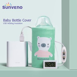 SUNVENO Portable Milk Bottle Warmer for Babies USB Charging Heating Thermo Bag Keep Baby Milk or Water Warm CX200605