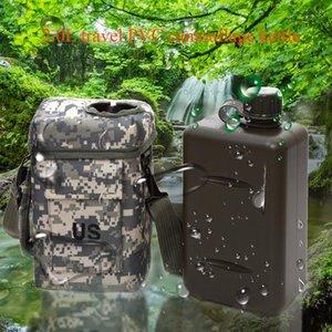2L portatile bollitore Sport Mensa Durable Water Bottle grande capacità di campeggio d'escursione PVC Esterni resistente all'usura