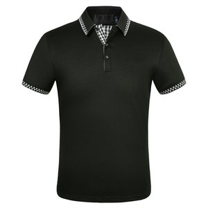 ريترو جديد لعبة البولو قميص الصيف عالية الجودة الرجال بولو كم قصير الصيف عارضة القطن رجل لعبة البولو قميص حجم M-3XL