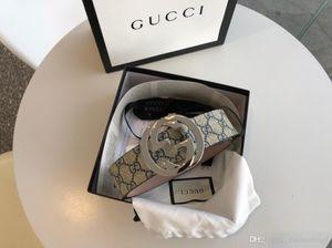 kutu kemerler kadın kemerleri ile altın gümüş toka tuval deri erkek kemer genişliği moda 4,0 cm KGDHN 4075 411924 Kargo Ücretsiz