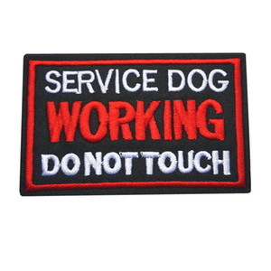 10x6 CM Nakış Dikmek Demir On Yamalar Mektuplar Çalışma Hizmeti Köpek Elbise Çantası Için siyah Kırmızı Rozetleri Kot Şapka T Gömlek DIY Aplikler Dekor
