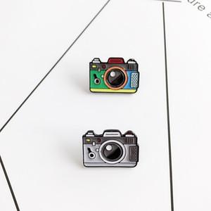 Caméra Cartoon Épingle Femmes 2 couleurs arc-en-Pins émail Appareil photo numérique manteau Cap Sac à dos photographie et cadeaux pour enfants