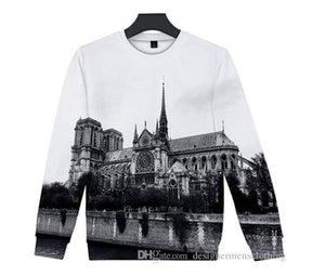 Hot Notre Dame de Paris Hoodies 3D imprimé O-cou coloré Sweat-shirts femme FASHION RIP