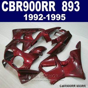 Customize paint fairing kit Honda CBR900RR CBR 893 1992-1995 red fairings set CBR 900 RR 09 10 11 CX38