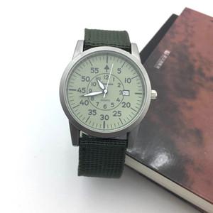 Retro Style Herrenuhr Casual Herren Quarz Uhren Mann Nylon Datum Leuchtzeiger Militär Männliche Uhr Sport zegarki meskie drop shipping