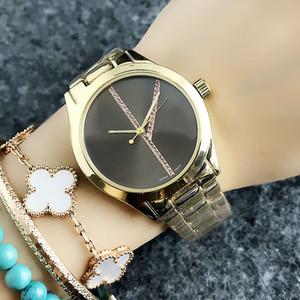 Модный бренд часы для женщин девушка красочные Кристалл стиль сталь металлический ремешок кварцевые наручные часы C8302