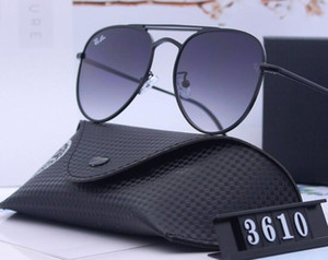 Classic male and female fashion decorative sunglasses driving sunshade explosion-proof tempered glass lenses with a full set of boxes.