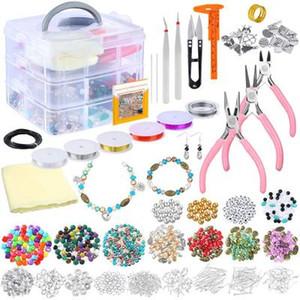 Bilezikler Kolyeler Küpeler N75Y Yapımı için Genç Kızlar başlayanlar Yetişkin Charms Beads için Kiti DIY Aracı Boncuk Setleri Yapımı DHL Takı