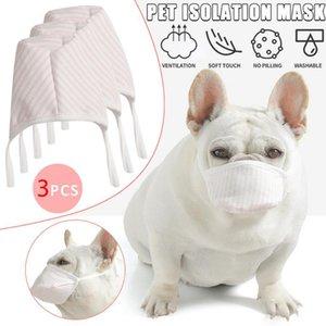3pcs / Lot Dog Macio Rosto Cotton Mouth máscara com filtro Pet respiratória Anti Mas Poeira Barking Produtos Pet Acessórios XD23229
