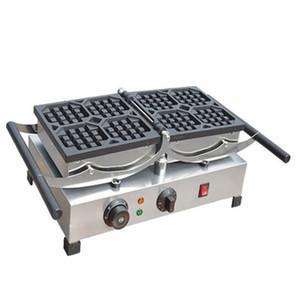 FRETE GRÁTIS Atacado elétricos waffle máquinas quadrados industriais 110V 220V comercial rotativa belga waffle máquina de fazer