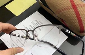 caso de Hotsale 2020 de alta calidad BE1323 clásica de los hombres de los vidrios de la prescripción contrastado rectangular Halfrim Lentes 54-18-145 Set completo