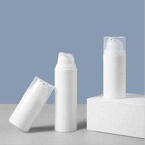 15ml 30ml Plastik Kozmetik Konteyner Beyaz Havasız Losyon Pompası Şişe Konteyner Kozmetik Ambalaj Şişeler Makyaj Aracı Depolama Kavanoz 0230PACK