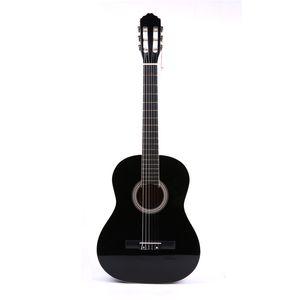 """Yüksek Kalite 39 """"Basswood Klasik Gitar Acemi Öğrencileri için Beyaz Bordure Siyah Gitar Guitarra Müzik Severler"""