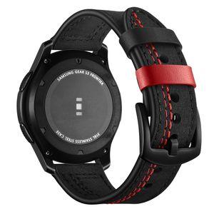 GALAXY GALAXY COMPATIBILE (46MM) Band, Gear S3 Bands, 22mm Cinturino in vera cinturino in vera cinturino in pelle Sostituzione cinturino da polso per Samsung Gear S3
