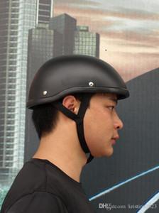 frete grátis New FRP do capacete da motocicleta moto Capacete alemão da motocicleta meio capacete preto para Harley equipe de 3 cores